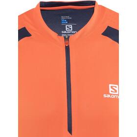 Salomon Fast Wing LS Tee Men vivid orange/big blue-x